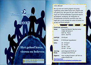 zaterdag 30 september t/m zondag 1 oktober - Jongerenweekend Youth2Gether 15-18 jr