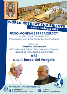 maandag 5 t/m zondag 11 februari 2018 - World Retreat for Priests - Shrine of Ars