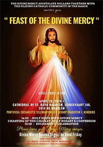 zondag 28 april - Feast of the Divine Mercy