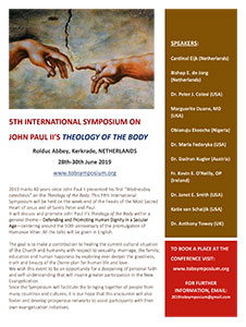 vrijdag 28 t/m zondag 30 juni - Internationaal symposium Theology of the Body
