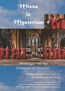 zaterdag 14 september - Missa in Mysterium