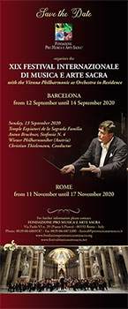 woensdag 11 t/m dinsdag 17 november - 19e Int. Festival Sacred Music and Art